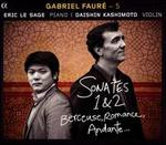 Fauré - 5: Sonates 1 & 2; Berceuse; Romance; Andante