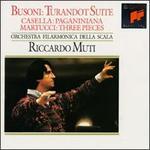 Ferruccio Busoni: Turandot Suite; Alfredo Casella: Paganiniana; Giuseppe Martucci: Three Pieces