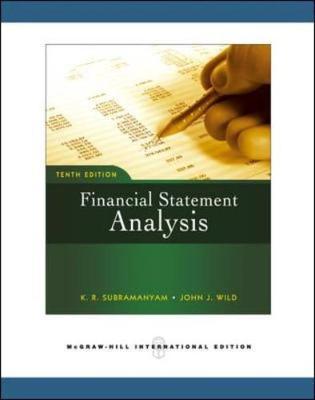 Financial Statement Analysis. - Wild, John J