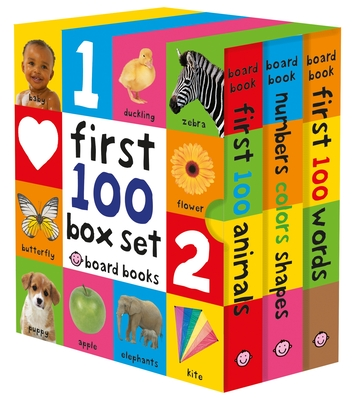 First 100 Board Book Box Set (3 Books) - Priddy, Roger