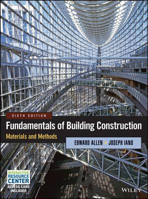 Fundamentals of Building Construction: Materials and Methods - Allen, Edward, Aia