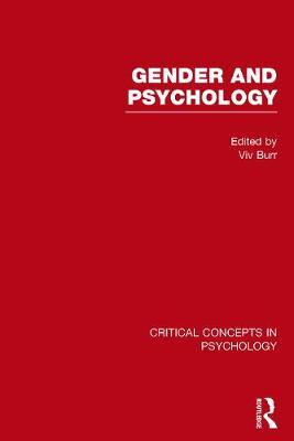Gender and Psychology - Burr, Vivien (Editor)