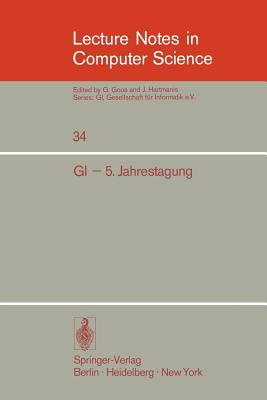 GI - 5. Jahrestagung: Dortmund, 8.-10. Oktober 1975 - Muhlbacher, J (Editor)