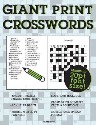 Giant Print Crosswords - Clarity Media