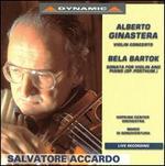 Ginastera: Violin Concerto; Bartók: Sonata for Violin & Piano