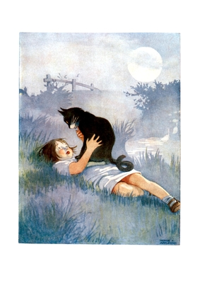 Girl Talking with Her Cat Friendship Greeting Cards - Appleton, Honor C (Illustrator)