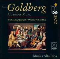 Goldberg: Chamber Music - Bernward Lohr (harpsichord); Musica Alta Ripa