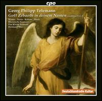 Gott Zebaoth in deinem Namen: Telemann Cantatas, Vol. 2 - Ekkehard Abele (bass); Jan Kobow (tenor); Jenny Haecker (soprano); Lena Susanne Norin (alto); Veronika Winter (soprano);...