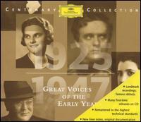 Great Voices of the Early Years - Alda Noni (soprano); Alfons Fügel (tenor); Arpad Sandor (piano); Erna Berger (soprano); Felicie Huni-Mihacsek (soprano);...