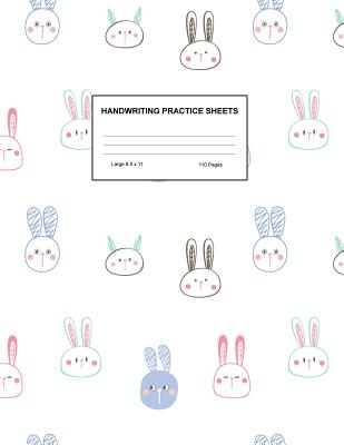 Handwriting Practice Sheets: Cute Blank Lined Paper Notebook for Writing Exercise and Cursive Worksheets - Perfect Workbook for Preschool, Kindergarten, 1st, 2nd, 3rd and 4th Grade Kids - Product Code A4 8240 - Wood, Melissa