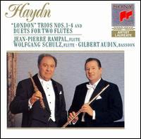 "Haydn: ""London"" Trios Nos. 1-4; Duets for 2 flutes - Gilbert Audin (bassoon); Jean-Pierre Rampal (flute); Wolfgang Schulz (flute)"