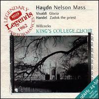 Haydn: Nelson Mass; Vivaldi: Gloria; Handel: Zadok the Priest - Andrew Davis (harpsichord); Elizabeth Vaughan (soprano); Helen Watts (contralto); John Langdon (organ); Kenneth Heath (cello); Roger Lord (oboe); Simon Preston (organ); Sylvia Stahlman (soprano); Thurston Dart (harpsichord); Tom Krause (baritone)
