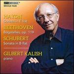 Haydn: Sonata; Beethoven: Bagatelles; Schubert: Sonata