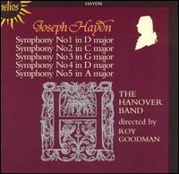Haydn: Symphonies Nos. 1-5 - Christian Rutherford (horn); Raul Diaz (horn); Roy Goodman (harpsichord); Hanover Band; Roy Goodman (conductor)