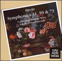 Haydn: Symphonies Nos. 31, 59 & 73 - Concentus Musicus Wien; Nikolaus Harnoncourt (conductor)