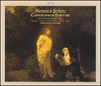 Heinrich Schütz: Cantiones Sacrae - John Potter (tenor); Manfred Cordes (organ); Mona Spagele (soprano); Peter Kooij (bass); Ralf Popken (alto);...