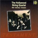 Hollywood String Quartet plays Wolf, Dohn�nyi, Schubert