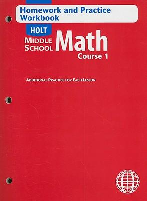 ... Holt Middle School Math Course 1.): Holt Rinehart Winston