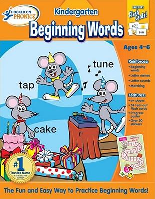 Hooked on Phonics Kindergarten Beginning Words Premium Workbook - Hooked on Phonics