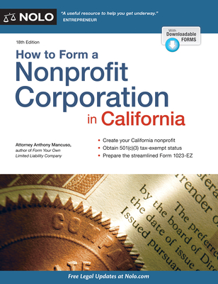 How to Form a Nonprofit Corporation in California - Mancuso, Anthony