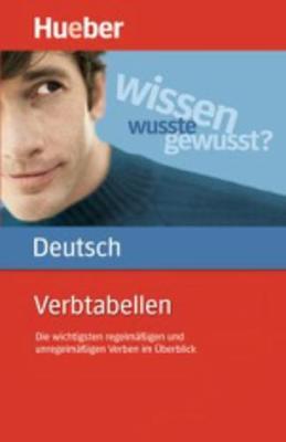 Hueber dictionaries and study-aids: Verbtabellen Deutsch als Fremdsprache - Funder, Anna