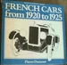 French Cars From 1920 to 1925