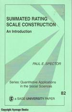 Summate Rating Scale Construction an Introduction