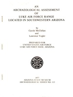 An Archaeological Assessment of Luke Air Force Range Located in Southwestern Arizona