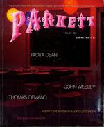 Parkett No. 62 Tacita Dean, Thomas Demand, John Wesley: Collaborations: Tacita Dean, Thomas Demand, John Wesley