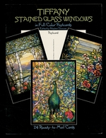 Tiffany Stained Glass Windows in Full-Color Postcards