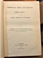 Domesday Book and Beyond, Three Essays in the Early History of England
