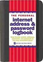 The Personal Internet Address & Password Logbook (Removable Cover Band for Security)