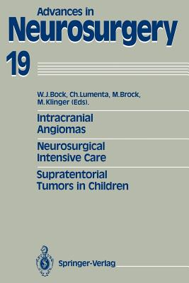 Intracranial Angiomas. Neurosurgical Intensive Care. Supratentorial Tumors in Children: Proceedings of the 41st Annual Meeting of the Deutsche Gesellschaft Für Neurochirurgie, Düsseldorf, May 27-30, 1990 - Bock, Wolfgang J (Editor), and Lumenta, Christianto (Editor), and Brock, Mario (Editor)