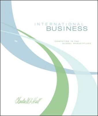 International Business - Hill, Charles W L, and Hill Charles, W L