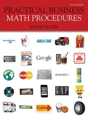 Practical Business Math Procedures with Business Math Handbook, Student DVD, Wsj Insert - Slater, Jeffrey