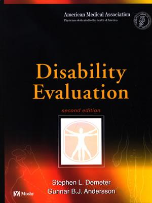 Disability Evaluation - Jain, Subhash C, and Demeter, Stephen L, and Andersson, Gunnar B J