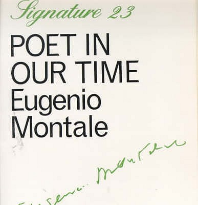 Poet in Our Time - Montale, Eugenio, and Hamilton, A. (Translated by)