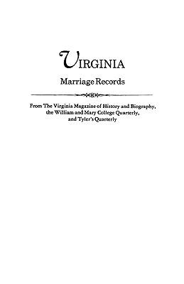 Virginia Marriage Records - Virginia