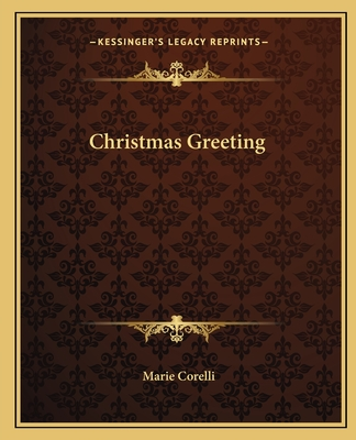 Christmas Greeting - Corelli, Marie