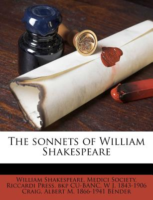 The Sonnets of William Shakespeare - Shakespeare, William, and Cu-Banc, Riccardi Press Bkp, and Medici Society (Creator)