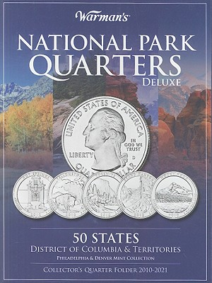 National Parks Quarters Deluxe: 50 States + District of Columbia & Territories: Collector's Deluxe Quarters Folder 2010-2021 - Warman's
