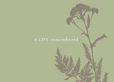 A Life Remembered: A Memorial Guest Book - Zadra, Dan (Compiled by)