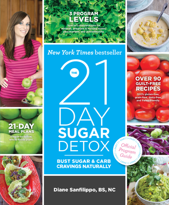 The 21-Day Sugar Detox Bust Sugar & Carb Cravings Naturally - Sanfilippo, Diane, Bs
