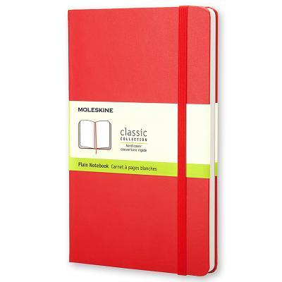 Moleskine Large Plain Notebook Red - Moleskine