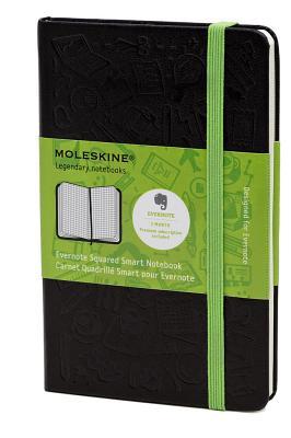 Moleskine Evernote Large Squared Smart Notebook - (5 X 8.25) - Moleskine