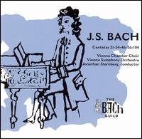 J.S. Bach: Cantatas 21, 34, 46, 56, 104 - Alois Pernerstorfer (bass); Daniel Pinkham (cembalo); Hugues Cuénod (tenor); Karl Mayerhofer (oboe); Kurt Rapf (organ);...