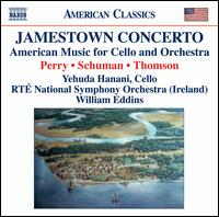 Jamestown Concerto: American Music for Cello & Orchestra - Jane Alexander (speech/speaker/speaking part); Yehuda Hanani (cello); RTÉ National Symphony Orchestra;...
