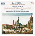Jan Jir? & Frantisek Benda: Violin Concertos, Vol. 1