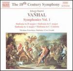 Johann Baptist Vanhal: Symphonies Vol. 1