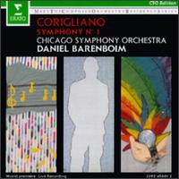 John Corigliano: Symphony No. 1 - John Sharp (cello); Stephen Hough (piano); Chicago Symphony Orchestra; Daniel Barenboim (conductor)